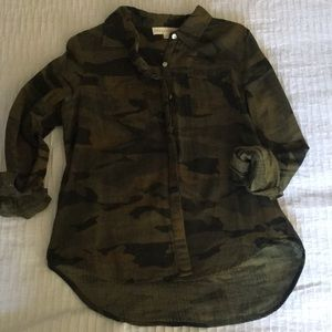 Camoflauge button up